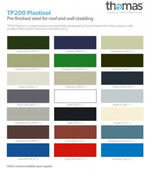 Agricultural Steel Flat Sheets Plastisol Polyester